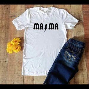 MAma AC/DC shirt custom